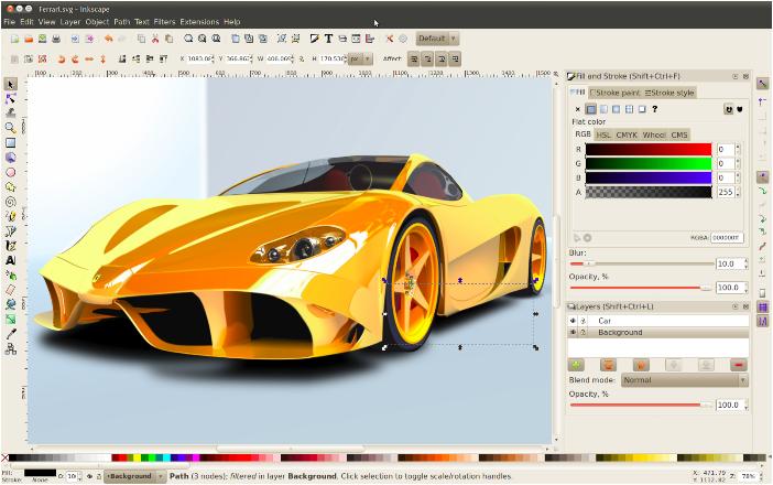 Inkscape - Freeware Tools Untuk Desainer