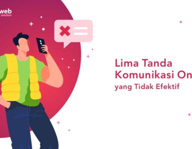 banner blog - lima tanda komunikasi online yang tidak afektif