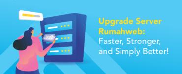 banner blog - upgrade server rumahweb