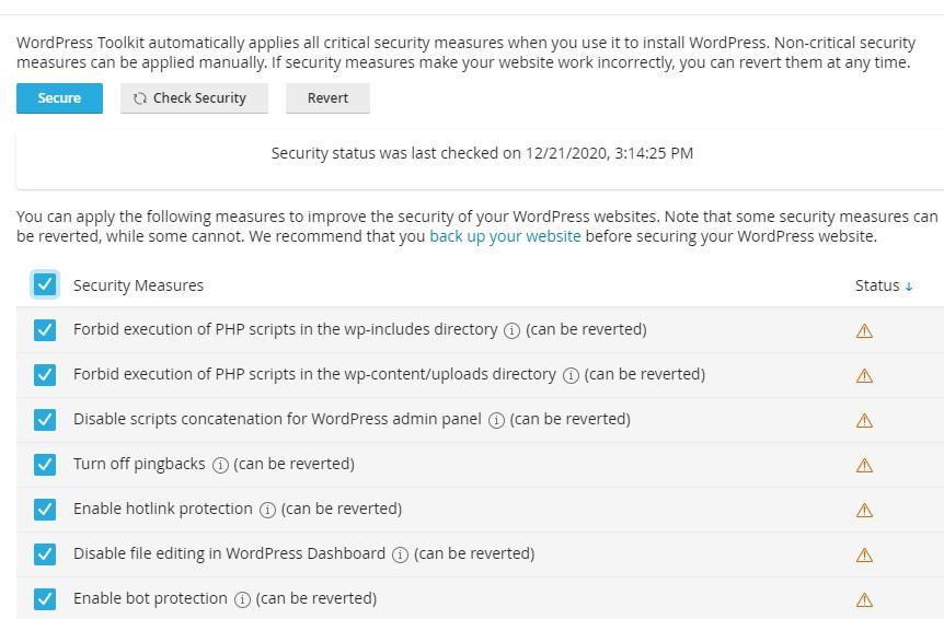 Advanced Security - Apa itu WordPress Toolkit dan Bagaimana Cara Menggunakannya di cPanel