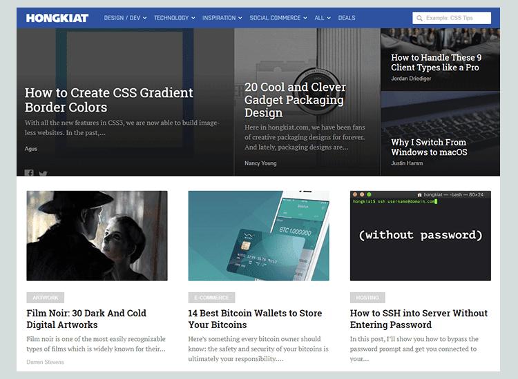 Hongkiat - 10 Rekomendasi Blog untuk Belajar Membuat Web