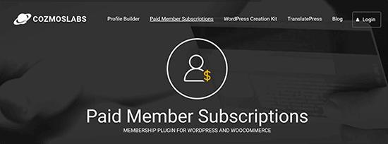 Paid Member Subscription - 10 Plugin Membership WordPress Terbaik