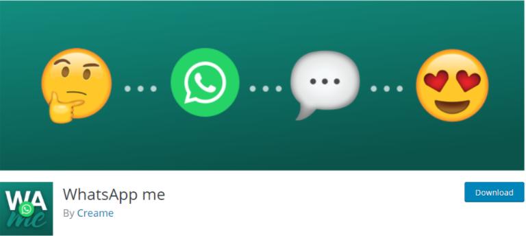 WhatsApp Me - 5 Plugin WhatsApp WordPress Terbaik