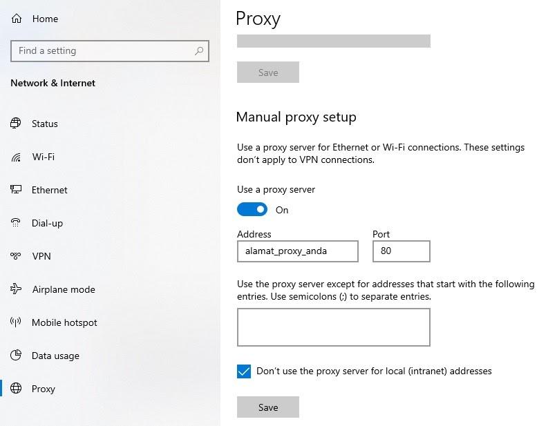 Cara Setting Proxy di Google Chrome 2