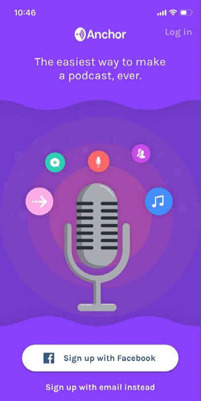 tampilan Anchor Podcast