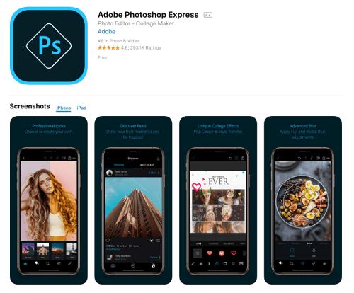 Adobe Photoshop express : Aplikasi Edit Foto di HP