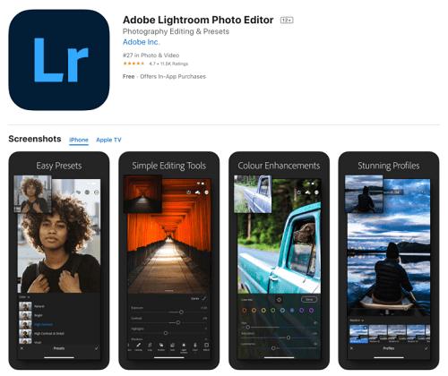 Adobe Photoshop Lightroom - Aplikasi Edit Foto di HP