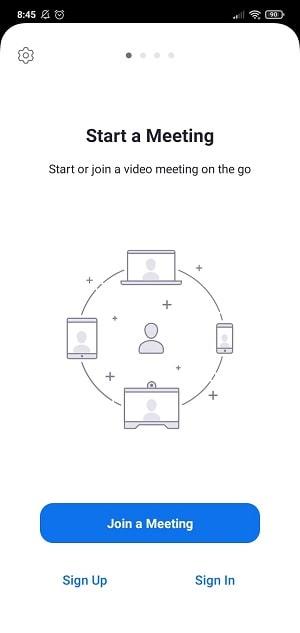 Memulai meeting dengan Zoom