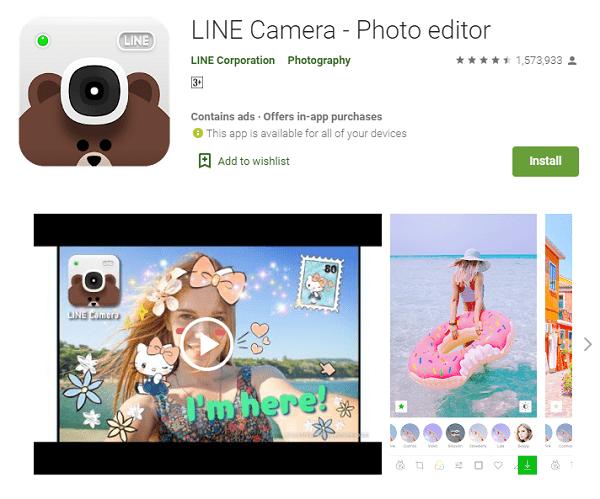 LINE Camera - Photo Editor - Aplikasi Edit Foto Jadi Anime