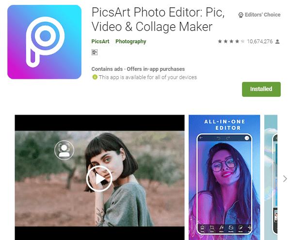 PicsArt Photo Editor: Pic, Video, & Collage Maker