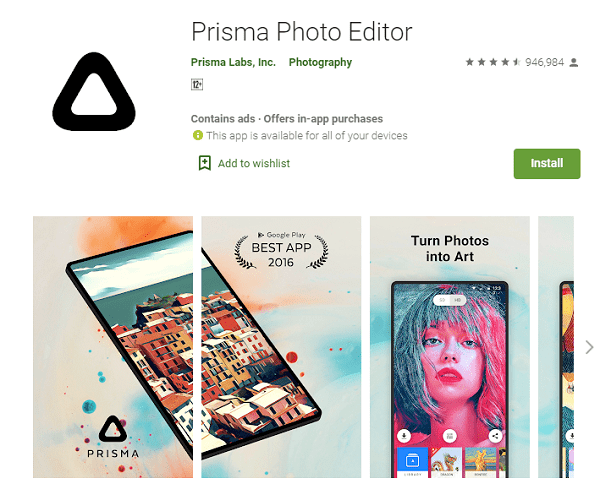 Prisma Photo Editor - Aplikasi Edit Foto Jadi Anime