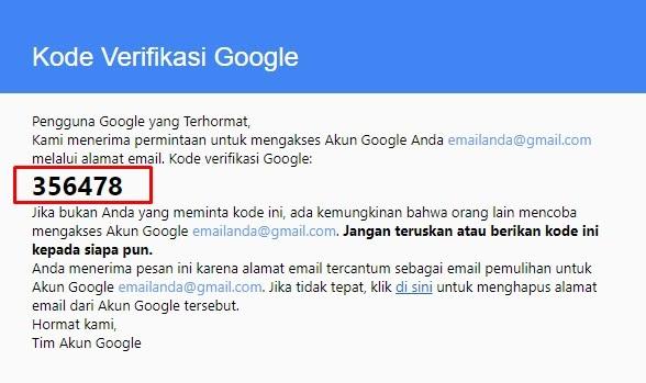 Lupa password gmail - Cara 2: Alamat Email Pemulihan - image 3