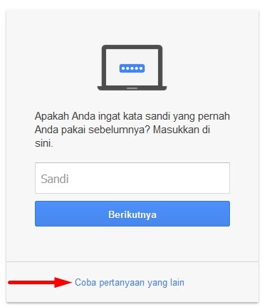 Lupa password gmail - Cara 2: Alamat Email Pemulihan - image 1