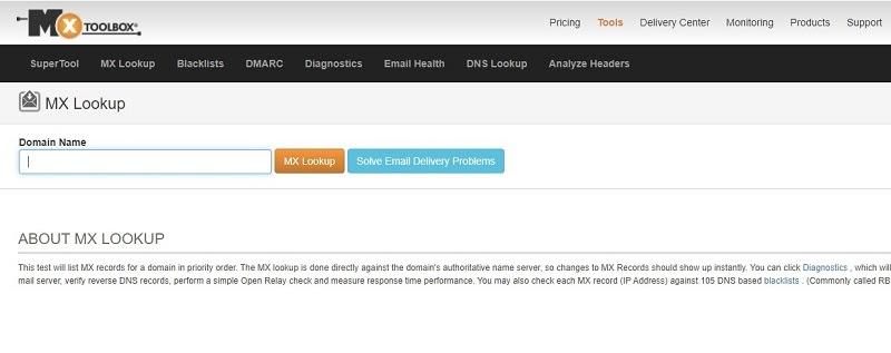 Mxtoolbox - 5 DNS Checker