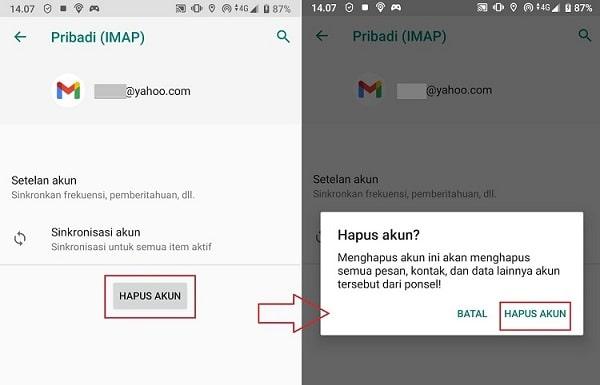 Cara Menghapus Email di HP Android image 2
